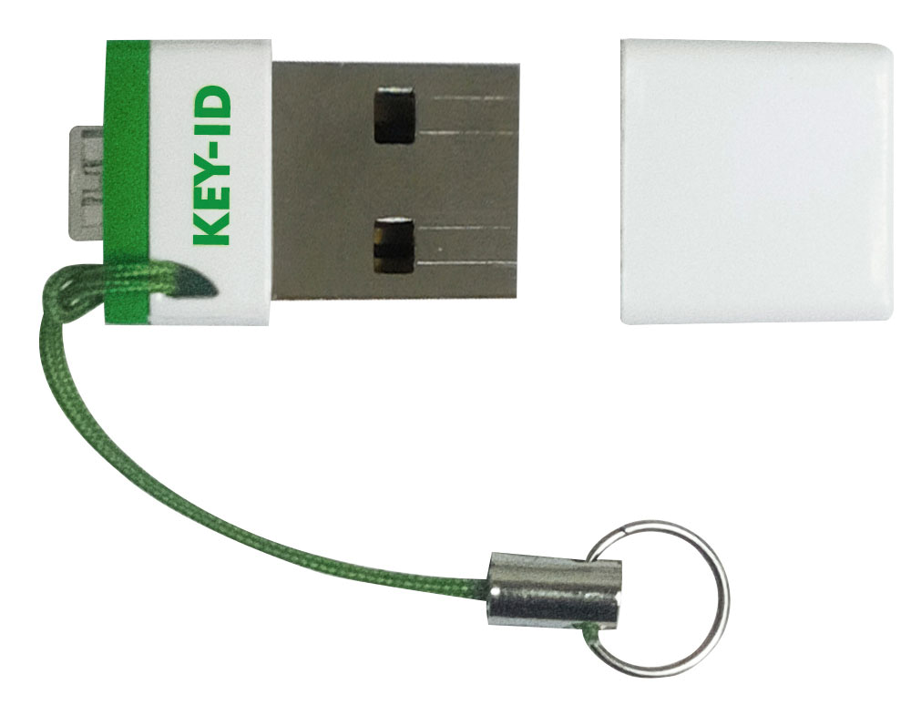 FIDO U2F security key with cap removed